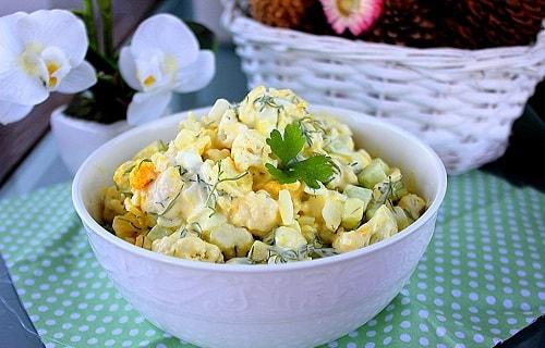 вкусный салат из цветной капусты
