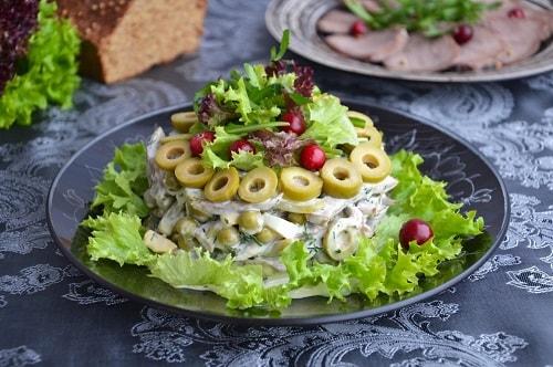 Салат из говяжьего языка рецепты