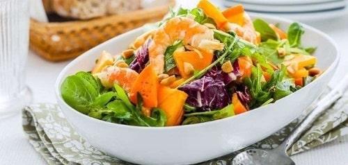 как сделать вкусный салат с хурмой рецепт