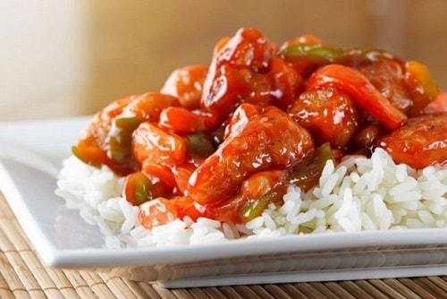 курица с овощами в кисло-сладком соусе по-китайски