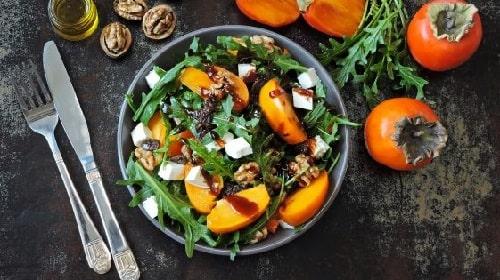 салат с хурмой простой рецепт