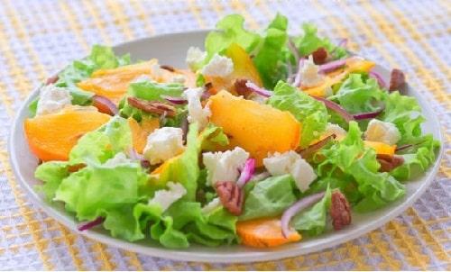 салат с хурмой рецепт с курицей