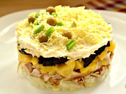 салат с курицей и черносливом рецепты