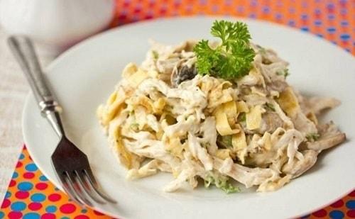 салат с яичными блинчиками рецепты