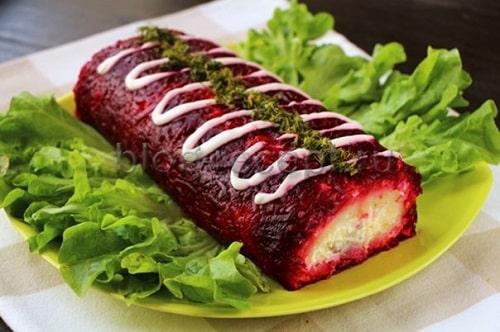 салат селедка под шубой рулетом