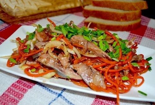 Селедка по-корейски рецепт приготовления