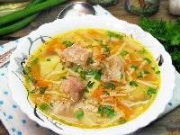 Суп с тушенкой, картошкой и вермишелью рецепт