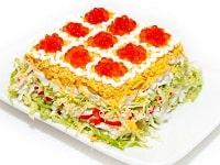 как приготовить салат с форелью слабосоленой