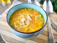 как сварить куриный суп с вермишелью и картошкой