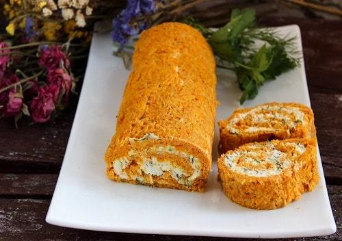 морковный рулет с сыром рецепт