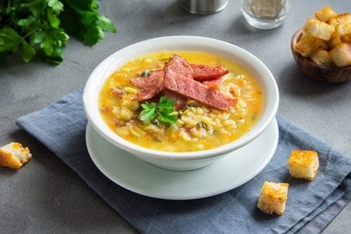 гороховй суп с копченостями в мультиварке