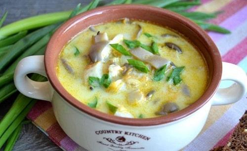 грибной суп с вешенками и сливками