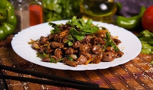 куриные сердечки с грибами рецепты