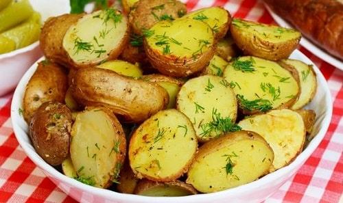 картошка в рукаве целиком
