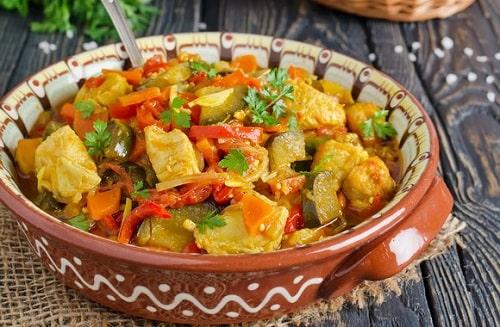 овощное рагу с кабачками и картошкой рецепты