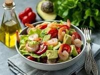 салат с креветками и помидорами рецепты