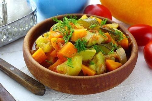 вкусное овощное рагу с кабачками и картошкой