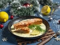 Форель в сливочном соусе на сковороде