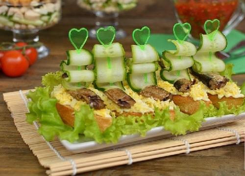 бутерброды из шпрот рецепты