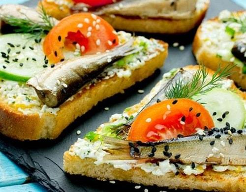 бутерброды со шпротами рецепты