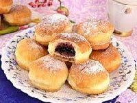 домашние пончики с начинкой
