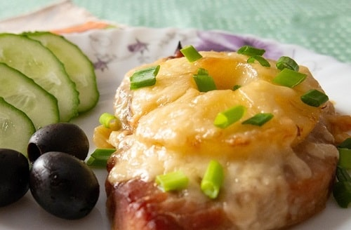 свинина с ананасами в духовке рецепт