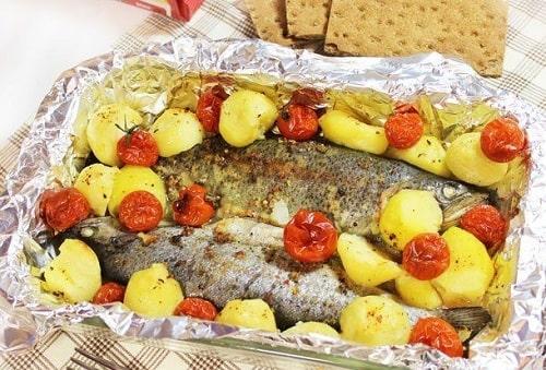 форель с картошкой в духовке рецепты