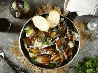 как приготовить мидии в сливочно-чесночном соусе