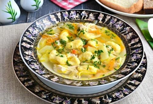 клецки для супа из муки