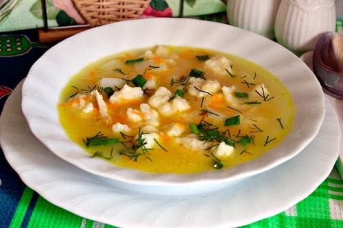 клецки для супа рецепт