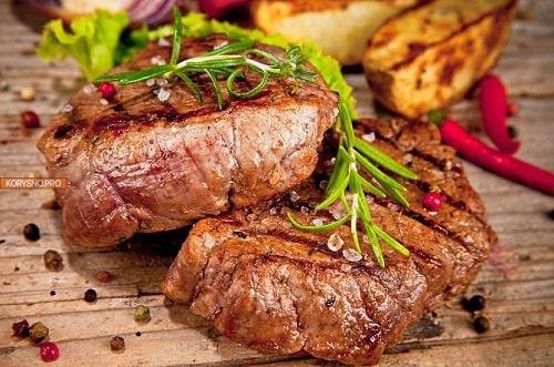 как приготовить стейк из свинины на мангале