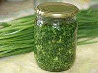 зеленый лук на зиму рецепт