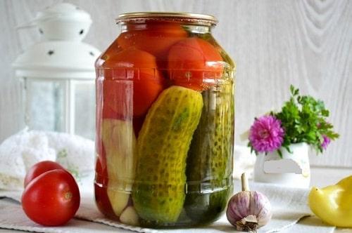 ассорти из огурцов, помидоров и перца рецепты