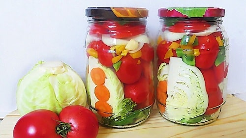 ассорти из огурцов помидоров капусты рецепт