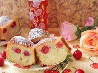 пирог с вишней на кефире простой рецепт