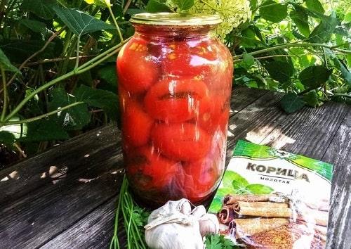 помидоры с корицей