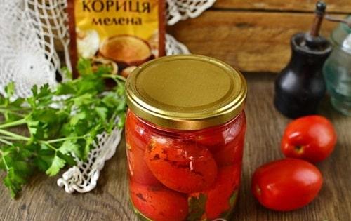 помидоры с корицей на зиму