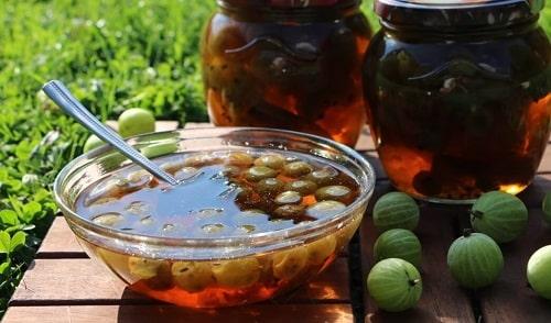 варенье из крыжовника с вишневыми листьями рецепт