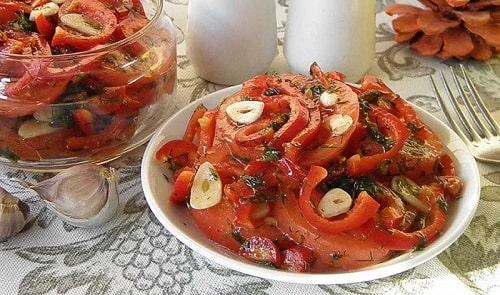 быстрые помидоры по корейски