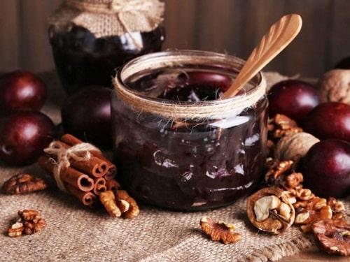 как варить варенье из слив с орехами