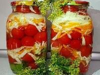 маринованные помидоры с капустой на зиму рецепт