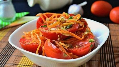 помидоры по корейски быстрого приготовления