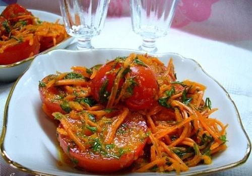 помидоры по корейски быстрого приготовления рецепт