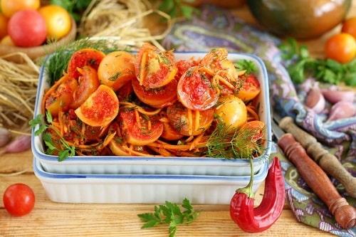 помидоры по корейски быстрые рецепт