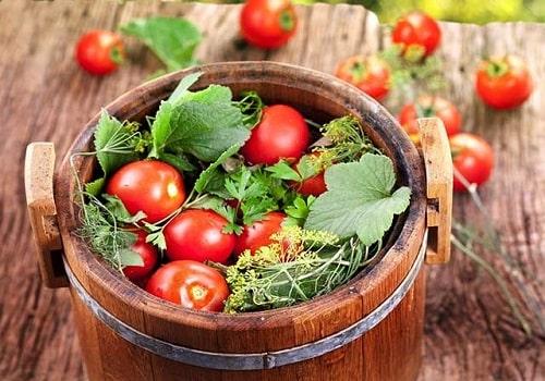 помидоры с горчицей на зиму холодным способом