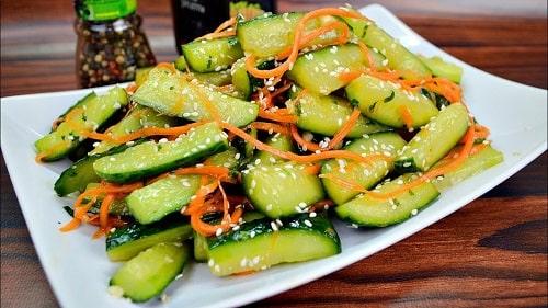 салат из огурцов и моркови по-корейски рецепты