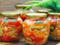 салат из помидоров с капустой на зиму
