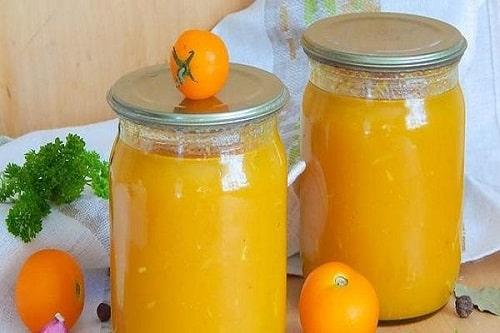 сок из желтых помидоров