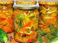 вкусный генеральский салат из овощей на зиму рецепт