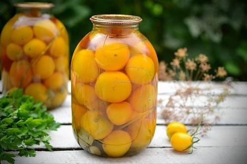 желтые помидоры на зиму